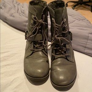 Gray combat boots from Aldo! Size 6.5